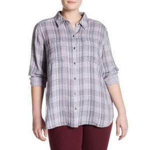 Nordstrom Melrose & Market Plaid Button-Down Shirt